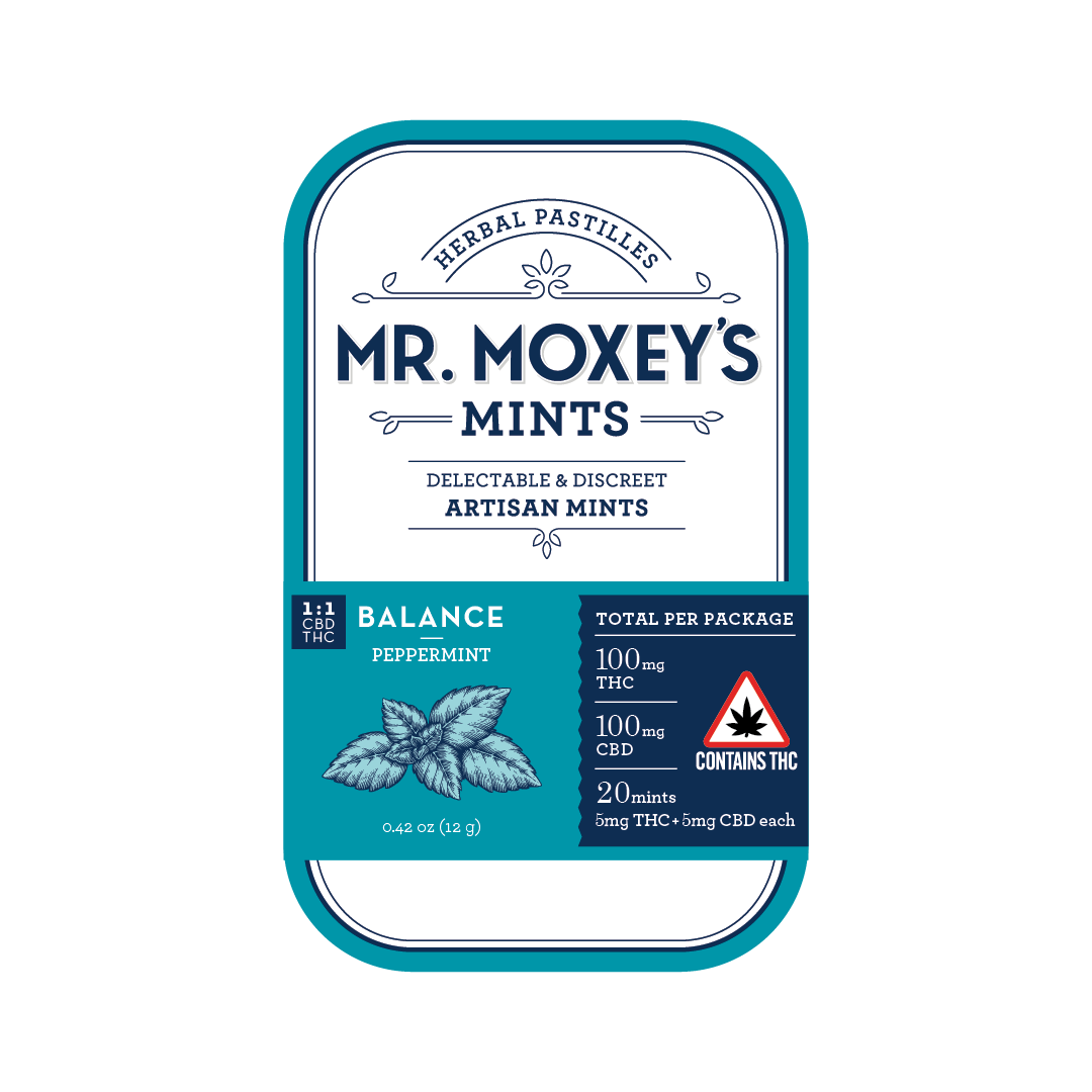 Mr. Moxey's Mints 1:1 (100mg) Balance Peppermint (Adult use)