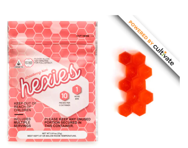 Cultivate Hexies 10pk (50mg) Strawberry Kiwi (Recreational use)