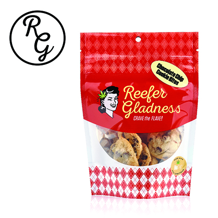 Reefer Gladness Cookie (100mg) Chocolate Chip Bites - 10 Pack (Medicinal use)