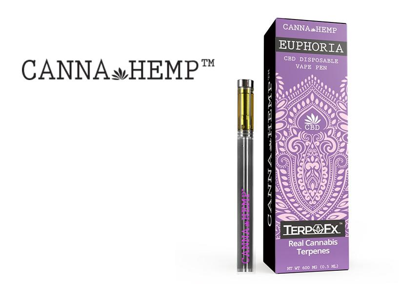 Canna Hemp Disposable Vape (200mg) Euphoria CBD (Recreational use)