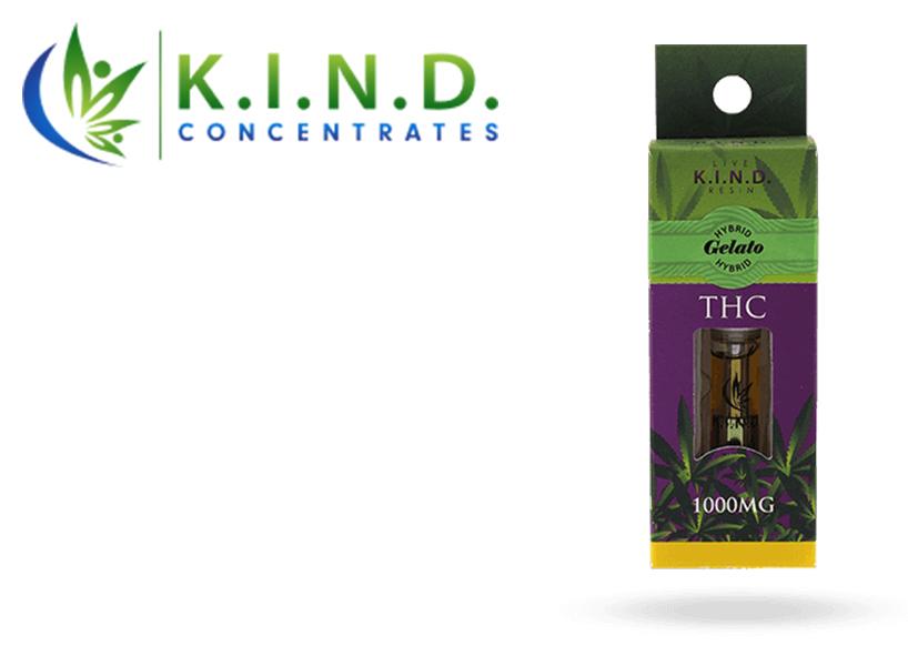 K.I.N.D. Live Resin Cartridge (1000mg) Gelato (Medicinal use)