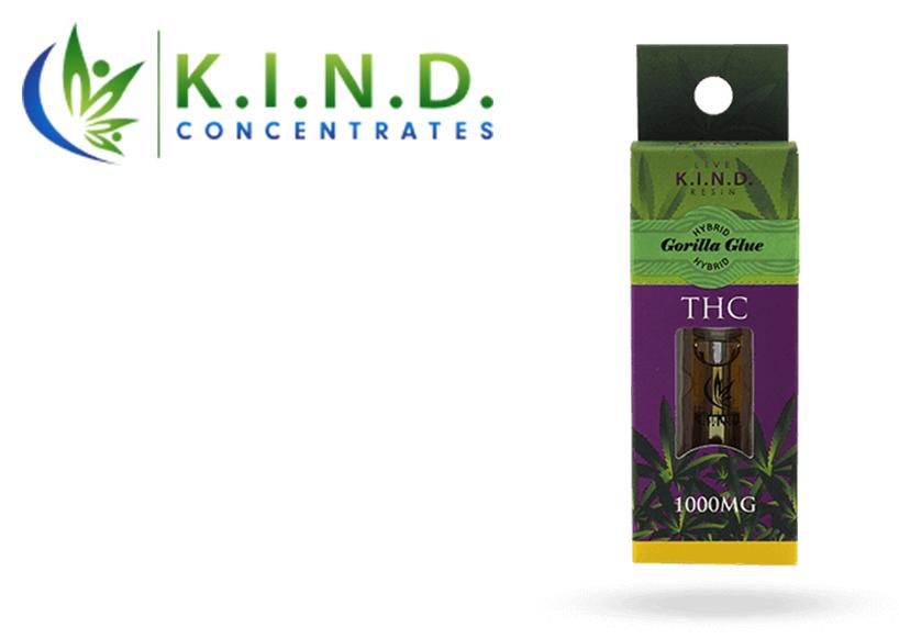 K.I.N.D. Live Resin Cartridge (1000mg) Gorilla Glue (Recreational use)
